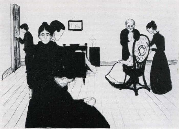 Death in the Sickroom 1896 - by Edvard Munch | Edvard ...
