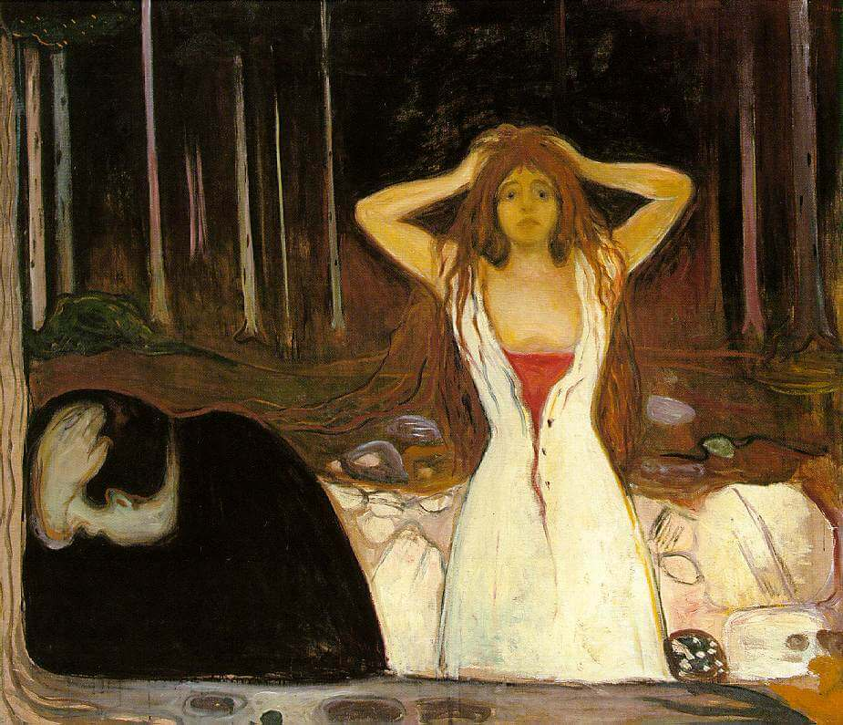 Ashes, 1894 by Edvard Munch