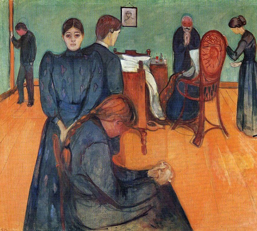 Death in the Sickroom, 1895 by Edvard Munch