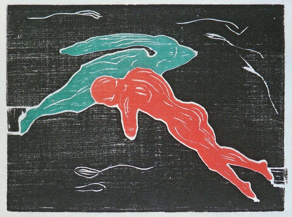 Encounter in Space, 1898 by Edvard Munch