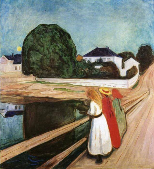 Girls on the Bridge, 1899 by Edvard Munch