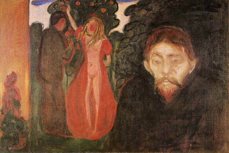 Jealousy, 1895 by Edvard Munch