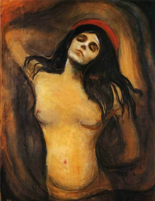 Madonna, 1894 by Edvard Munch