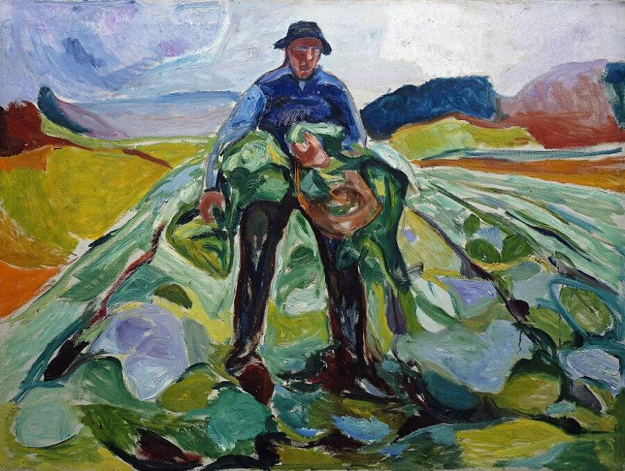 Man in a Cabbage Field, 1916 by Edvard Munch