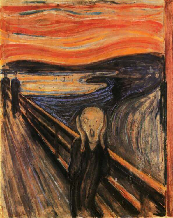 Image result for Edvard Munch's painting The Scream