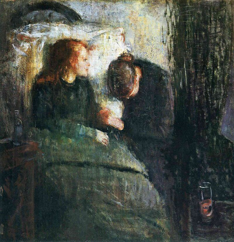 The Sick Child, 1885 by Edvard Munch