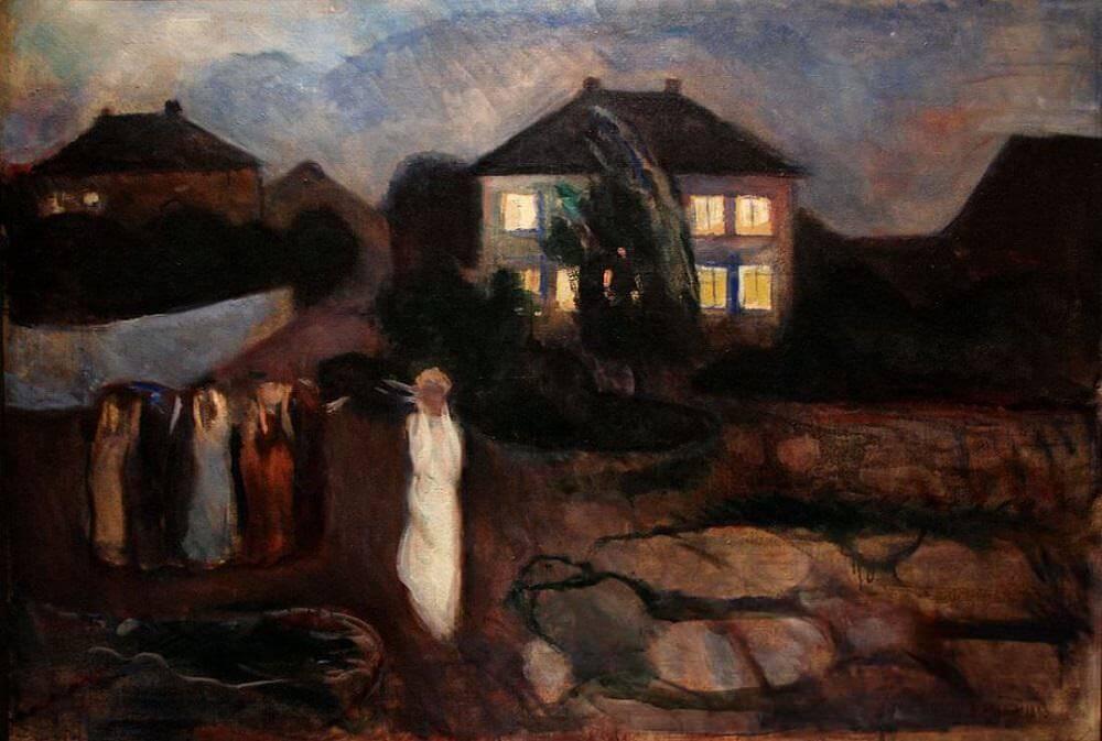 The Storm 1893 By Edvard Munch