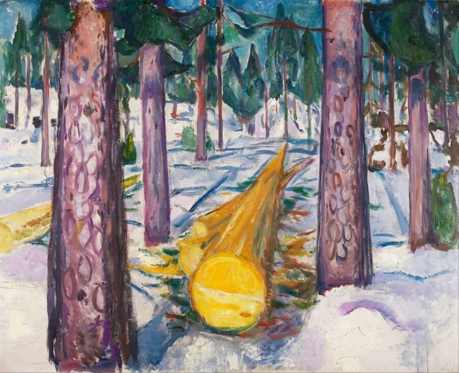 The Yellow Log, 1911-12 by Edvard Munch