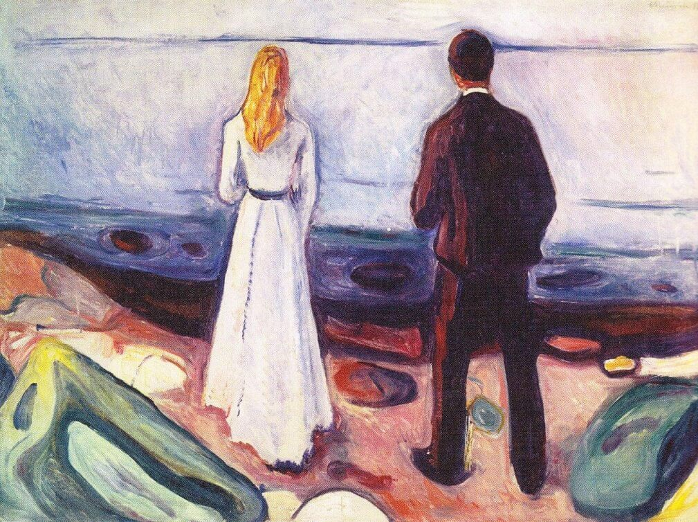 Two Human Beings (The Lonely Ones), 1896 by Edvard Munch