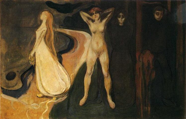 Woman in Three Stages, 1895 by Edvard Munch