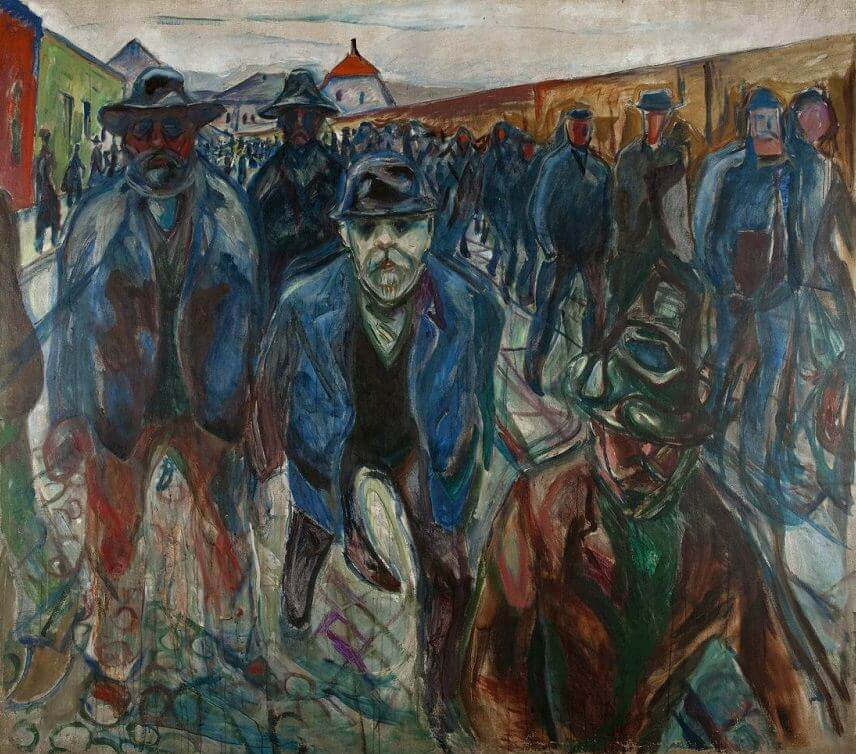 Workers Returning Home, 1913-15 by Edvard Munch