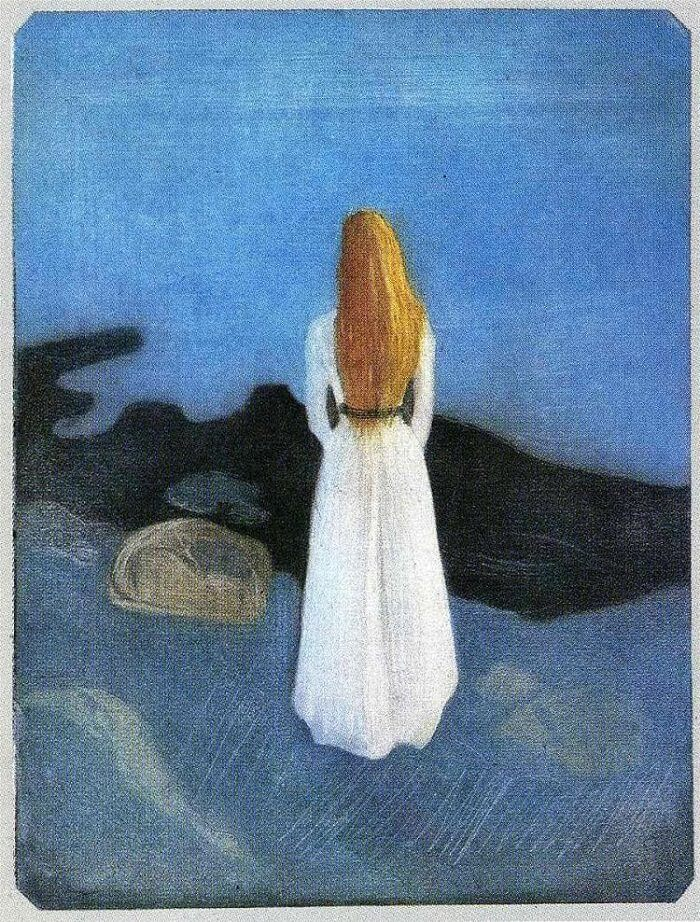Young Woman on the Beach, 1896 by Edvard Munch